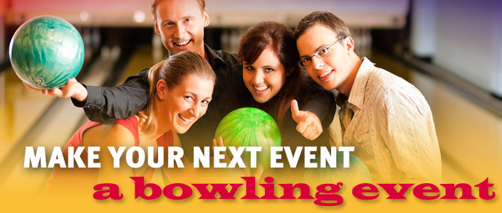 Make Your Next Event a Bowling Event Logo